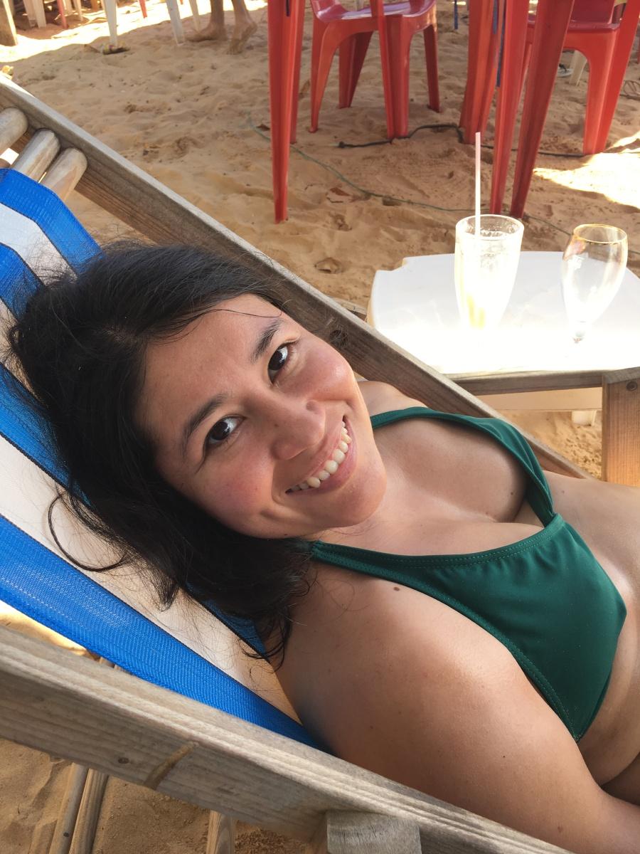 Descansando en Praia das Tartarugas