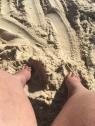 Pies en la arena, Praia Leblon